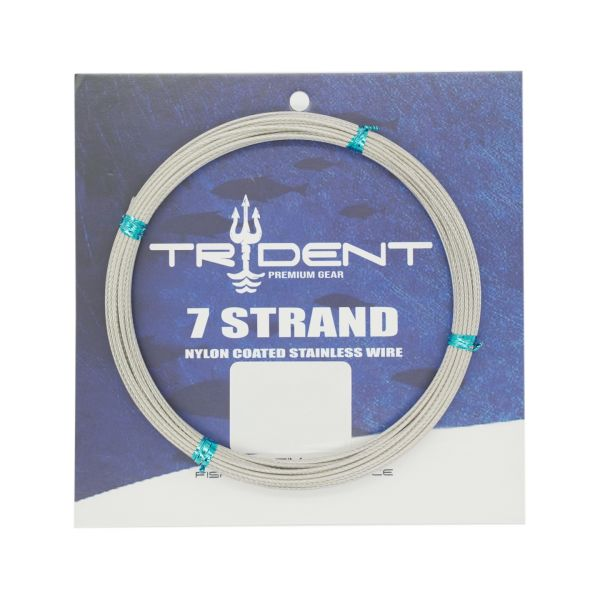 Up your game with TRIDENT's great range of quality 7 STRAND NYLON COATED S/S WIRE. Whatever the application TRIDENT is the right choice for success.